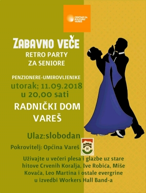 "Najavljujemo - ""Retro party za seniore"""