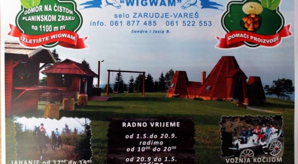 Posjetite izletište Wigwam!