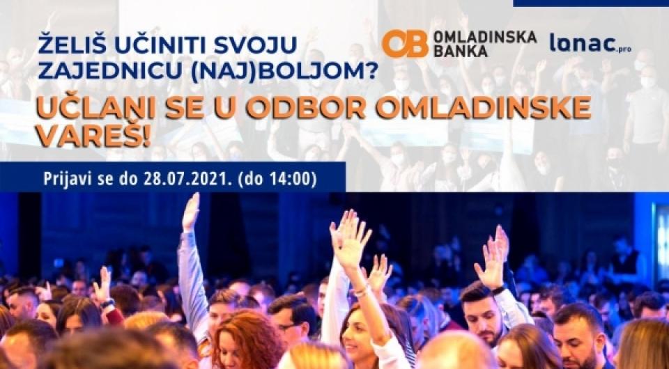 Poziv za članstvo u Odbor Omladinske banke Vareš