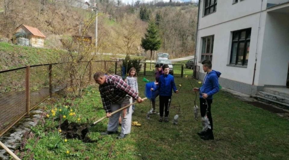 Učenici područnih škola OŠ Vareš zasadili voćke